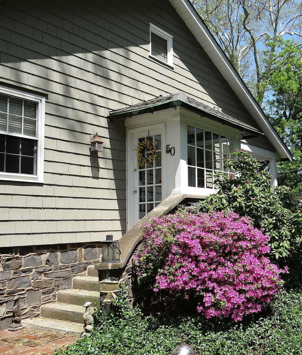 Trim work around the exterior doors and windows