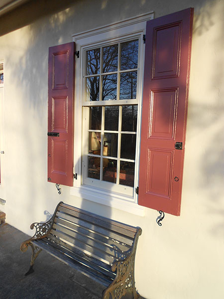 After: Shutters were painted in an era-appropriate palette