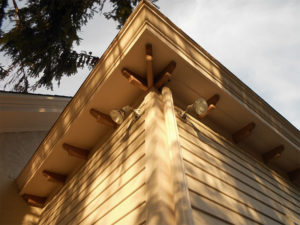 After: Soffit and rafter tails along the roofline